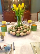 Pastel wreath Centerpiece