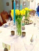 Fresh yellow tulips