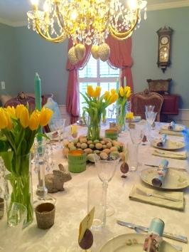 Table all set for dinner